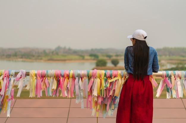 Girl waiting someting
