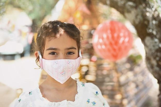 아동 보호 마스크 소녀