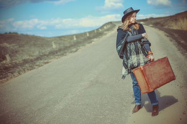 도 가방 소녀