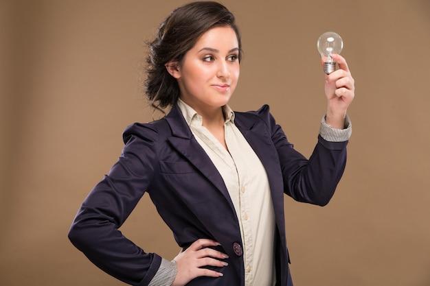 Girl with a bulb