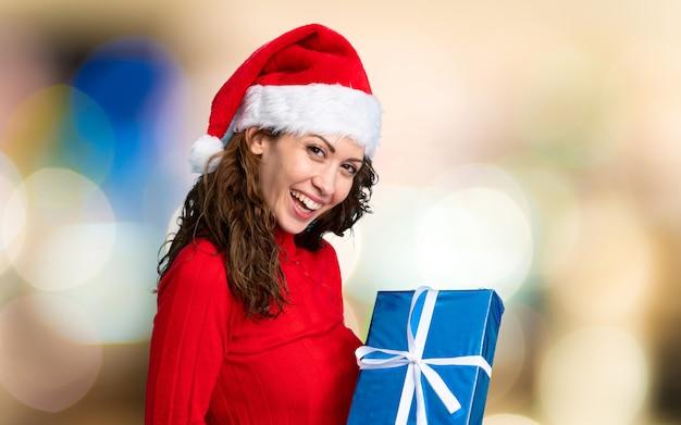 Girl with christmas hat