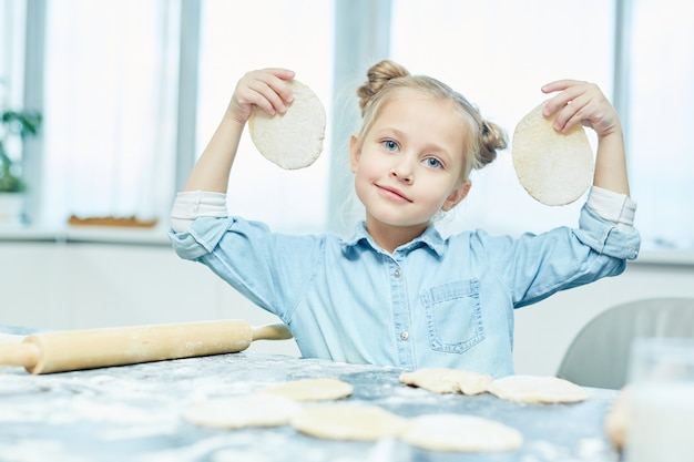Girl with flatbreads