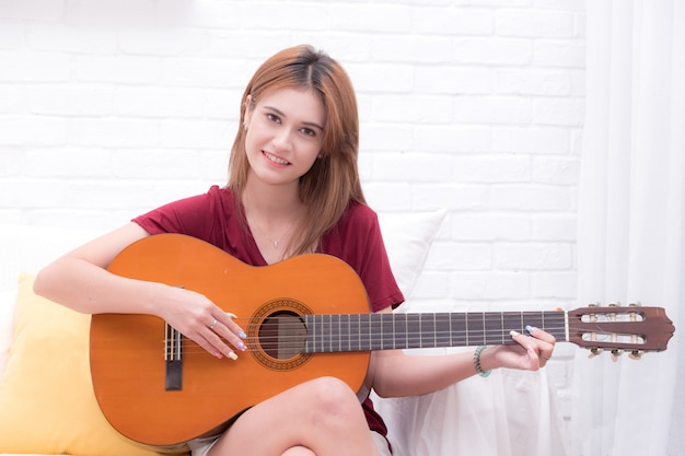 The girl with guitar