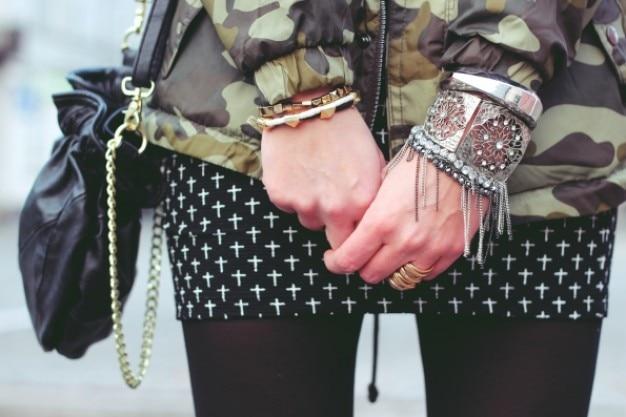 Girl with polka doy skirt