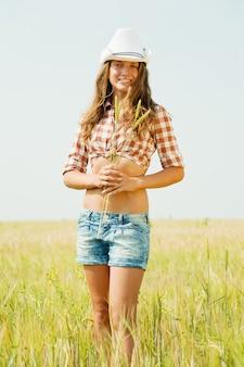 Girl  with  wheat ear
