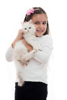 白猫の女の子