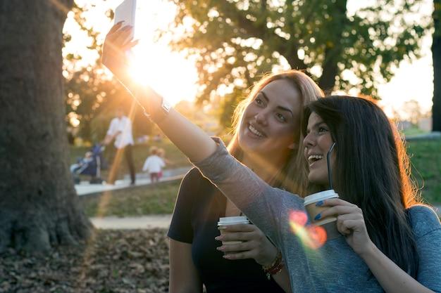 Girlfriends selfie
