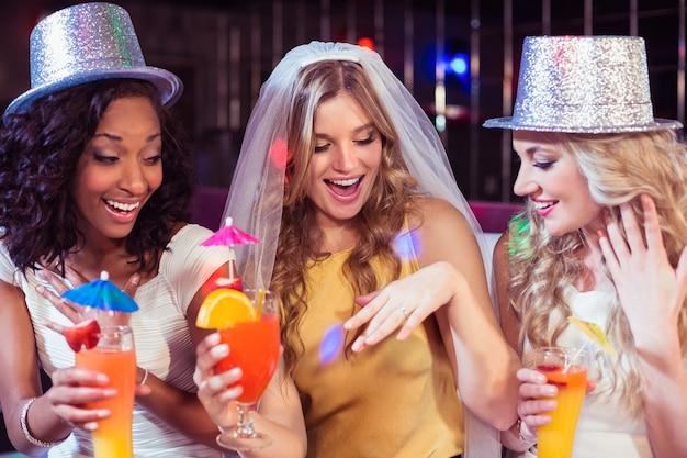 Girls celebrating bachelorette party