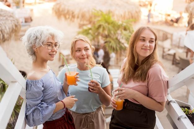 Girls celebrating the end of quarantine