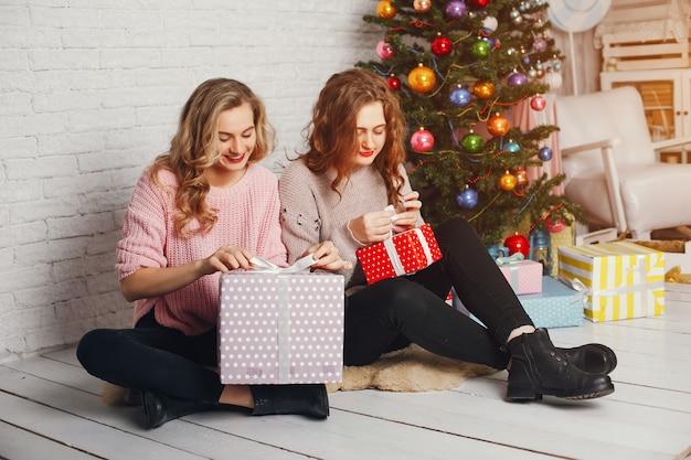 Girls and christmas