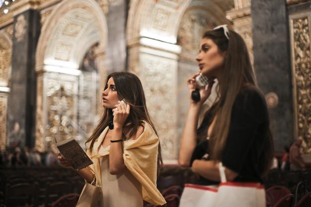 Girls in a church