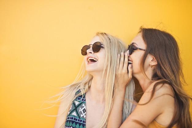 Girls gossiping around