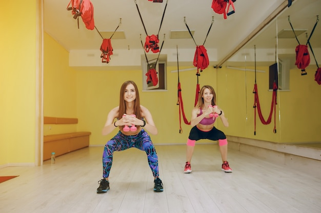 체육관에서 여자
