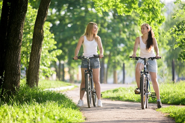 Girls riding bike