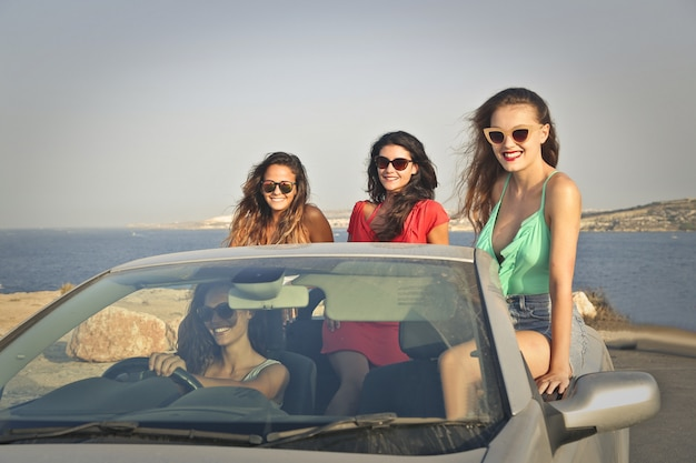 Girls on a road trip