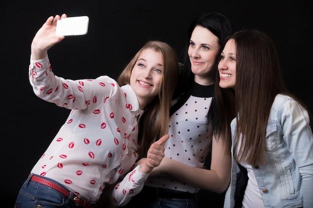 Girls taking a photo