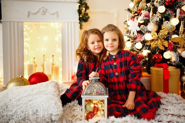 Девочки под елкой