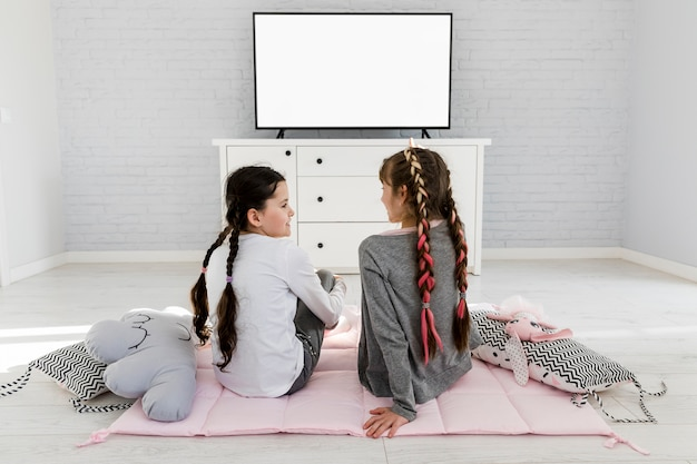 Girls watching tv