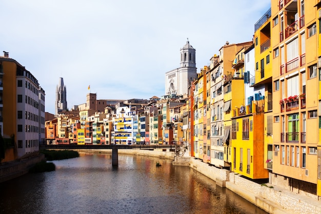 Girona in day time. catalonia