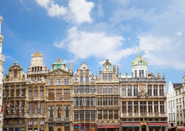 Giuldhalls facades grand place town square, brusseles, belgium