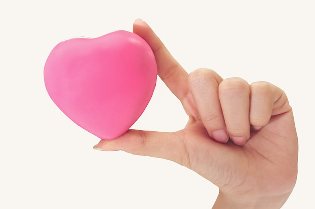 Give a pink heart and love you