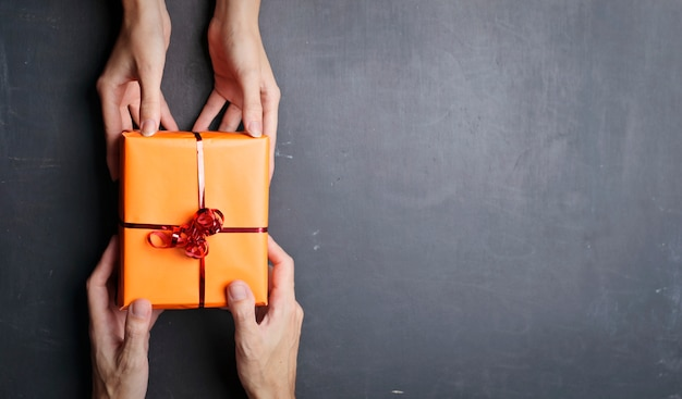 Giving presents to each other