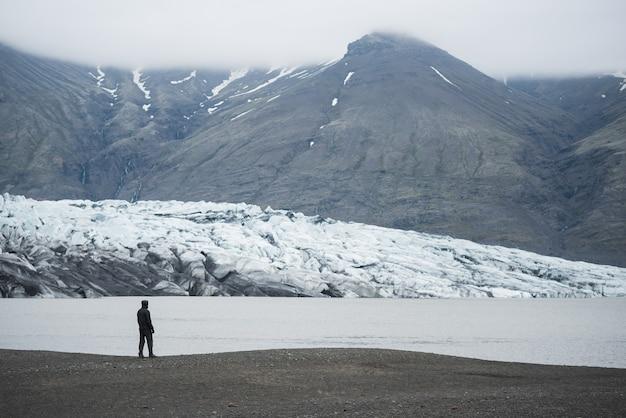アイスランドの氷河湖フィヤトルスアゥルロゥン。ヴァトナヨークトル国立公園の観光観光。素晴らしい景色