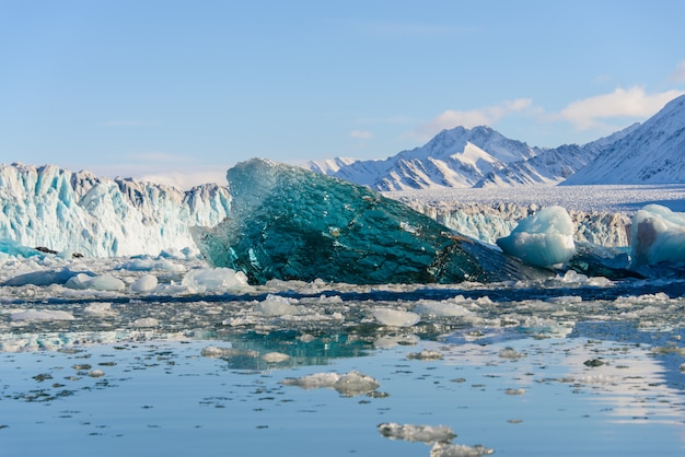 Ледник арктического пейзажа