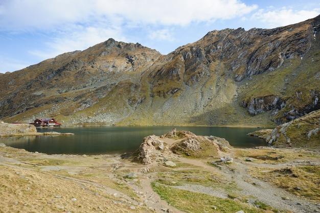 The glacier lake balea on the transfagarasan road
