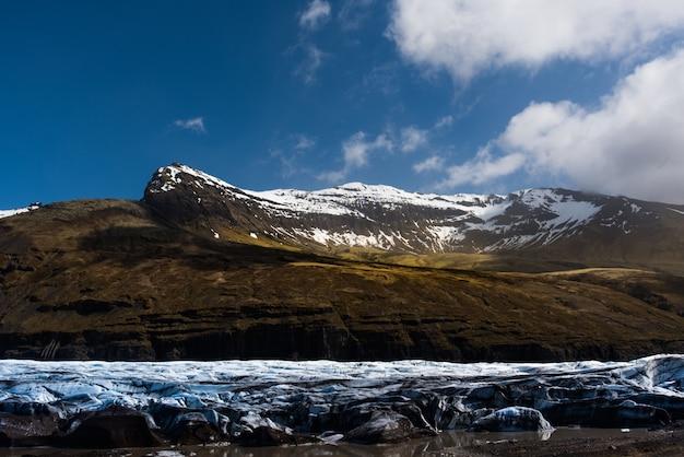 Glacier in sunny iceland