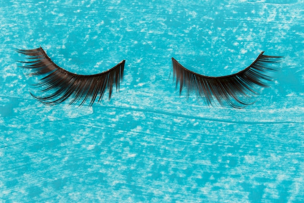 Glamorous artificial female decorative sticky eye lashes