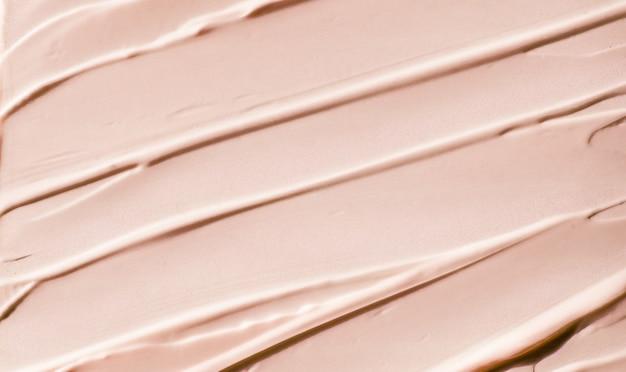Гламурный брендинг и концепция макияжа бежевая косметическая текстура фон макияж и уход за кожей косметика ...