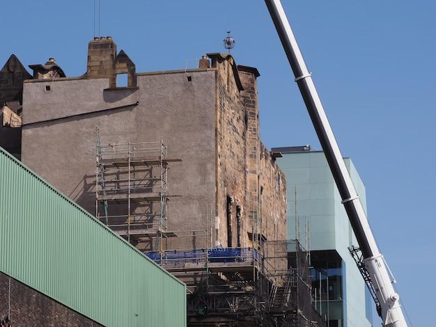 グラスゴー芸術大学がグラスゴーで火災後に廃墟
