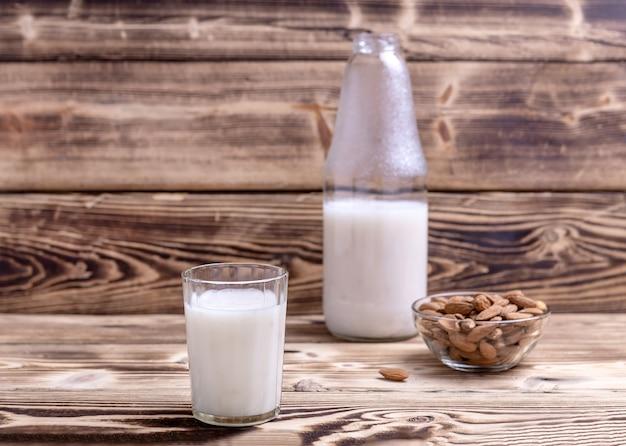 A glass of almond milk
