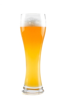 Glass of beer isolated on a white space