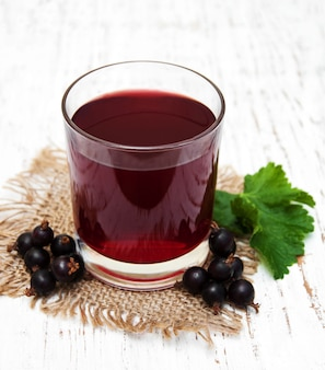 Glass of blackcurrant lemonade