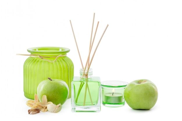 部屋のガラス瓶の臭い緑化学