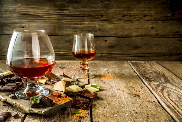 Glass of brandy, whiskey or cognac