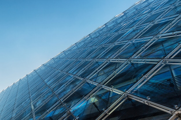 Glass building abstract background