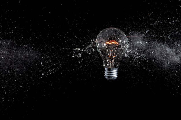 Glass bulb explosion