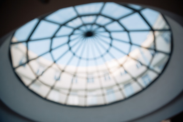 Glass ceiling in the lobby of the business center