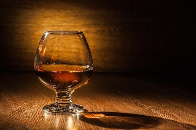 A glass of cognac