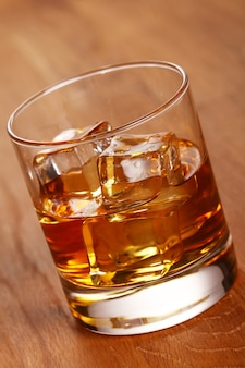 Glass of cold whiskey