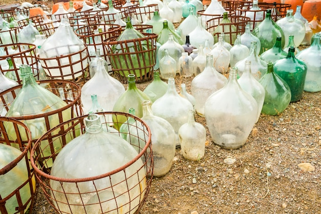 Glass containers for liquid