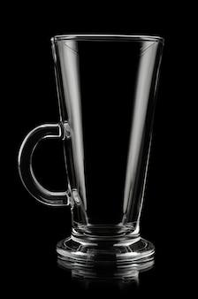 黒のラテ用ガラスカップ