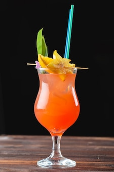 Glass of delicious alcoholic cocktail