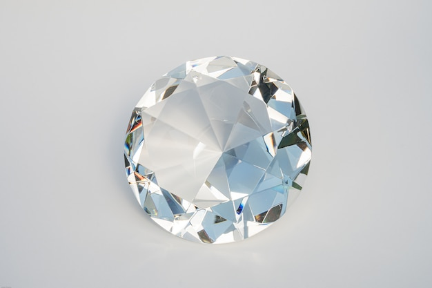 Glass diamond isolated
