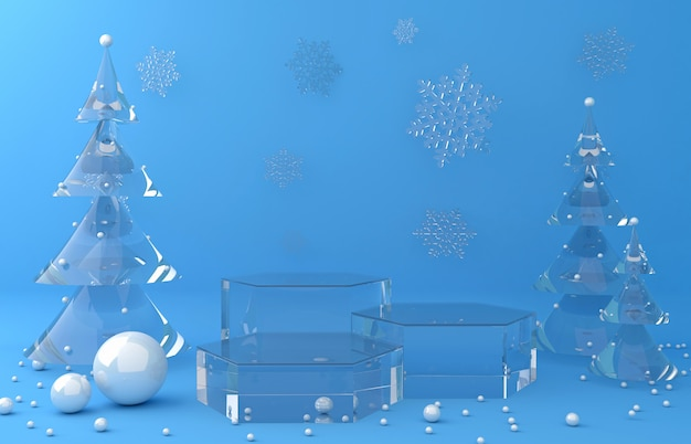 Glass display background for product presentation