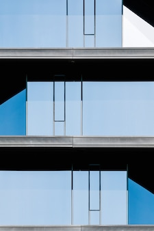 Glass facade architecture of an office building