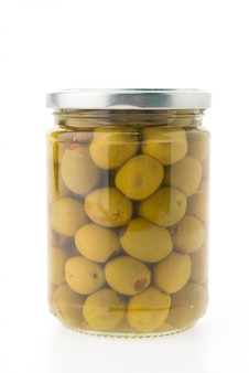Glass food olives ingredient green